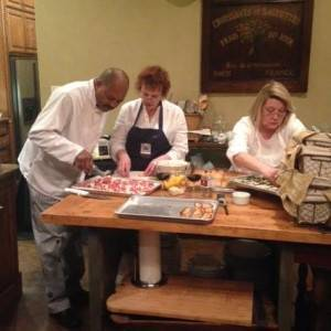 Team preparing for a Charity Dinner